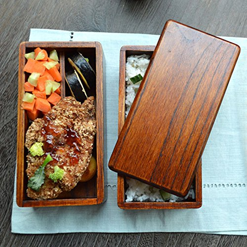 lunch boxes japanese traditional natural square wooden lunch containers women 39 s men 39 s adult. Black Bedroom Furniture Sets. Home Design Ideas