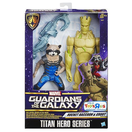 Marvel Guardians of the Galaxy Titan Hero Rocket Raccoon and Groot Exclusive Figure Set by GuardiansoftheGalaxy ()