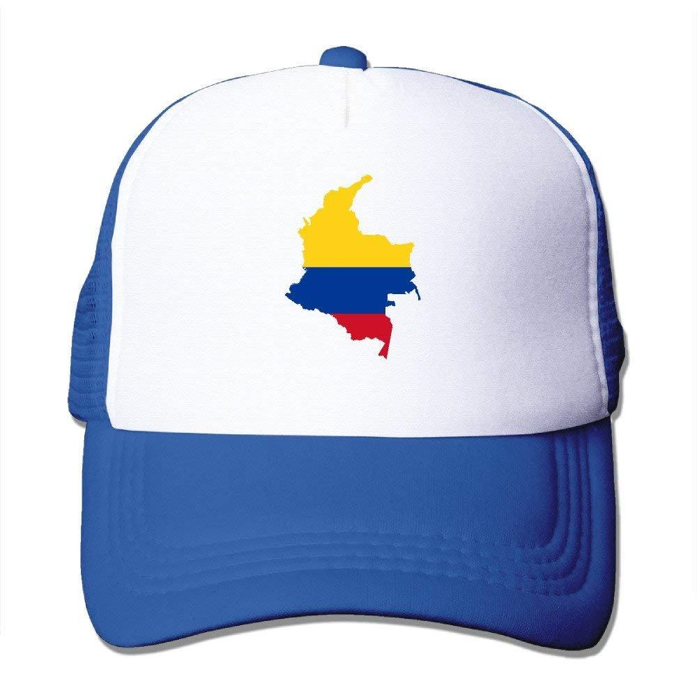 NDJHEH Gorras béisbol Flag Map of Colombia Classic Snapback Hats ...