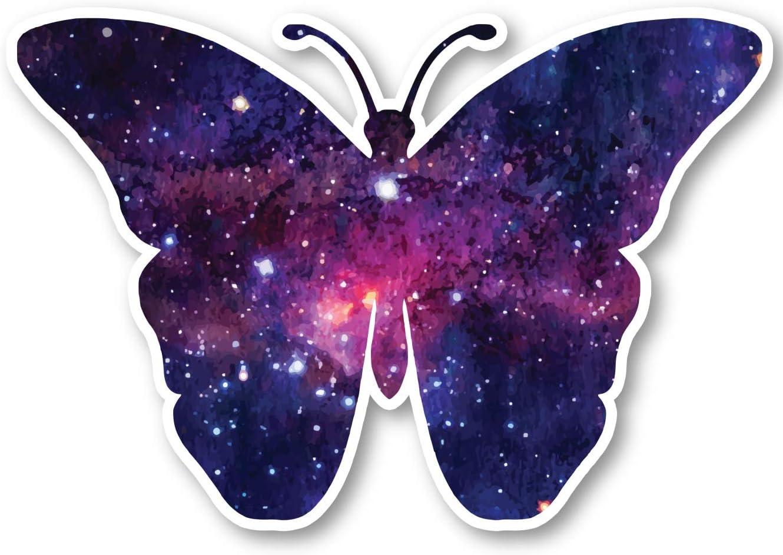 "Butterfly Sticker Galaxy Stickers - Laptop Stickers - 2.5"" Vinyl Decal - Laptop, Phone, Tablet Vinyl Decal Sticker S1243"