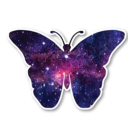 3448154347b5 Butterfly Sticker Galaxy Stickers - Laptop Stickers - 2.5