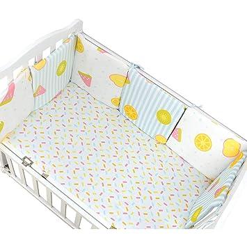 6 Stk Bettumrandung für Kinderbett Baby Nest Kopfschutz Nestchen Bettnestchen