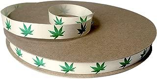 "product image for Cream City Ribbon Cannabis Leaf Organic Cotton Curling/Craft Ribbon, 1/2"" x 100 yd. (300')"