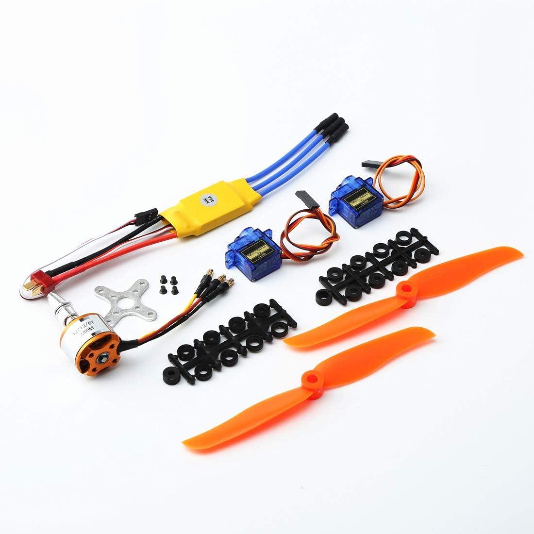 Brushless Motor 40A ESC Mikroservo Zubehör für RC-Flugzeuge