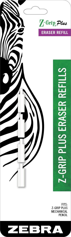 Zebra Z-Grip Plus Mechanical Pencil Eraser Refills 4-Count by Zebra Pen (Image #1)