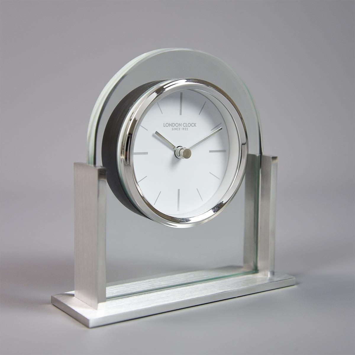 London Clock Magnum Mantel, silberfarben, 14,5 x 14,5 x 5 cm