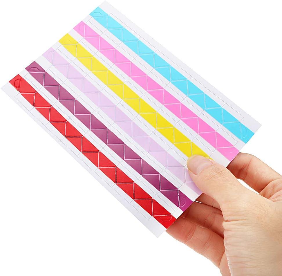 980IUHOP 102 pcs//lot DIY Colorful Corner Paper Stickers PVC Photo Corner Sticker Photo Albums Frame Decoration Scrapbooking Transparent