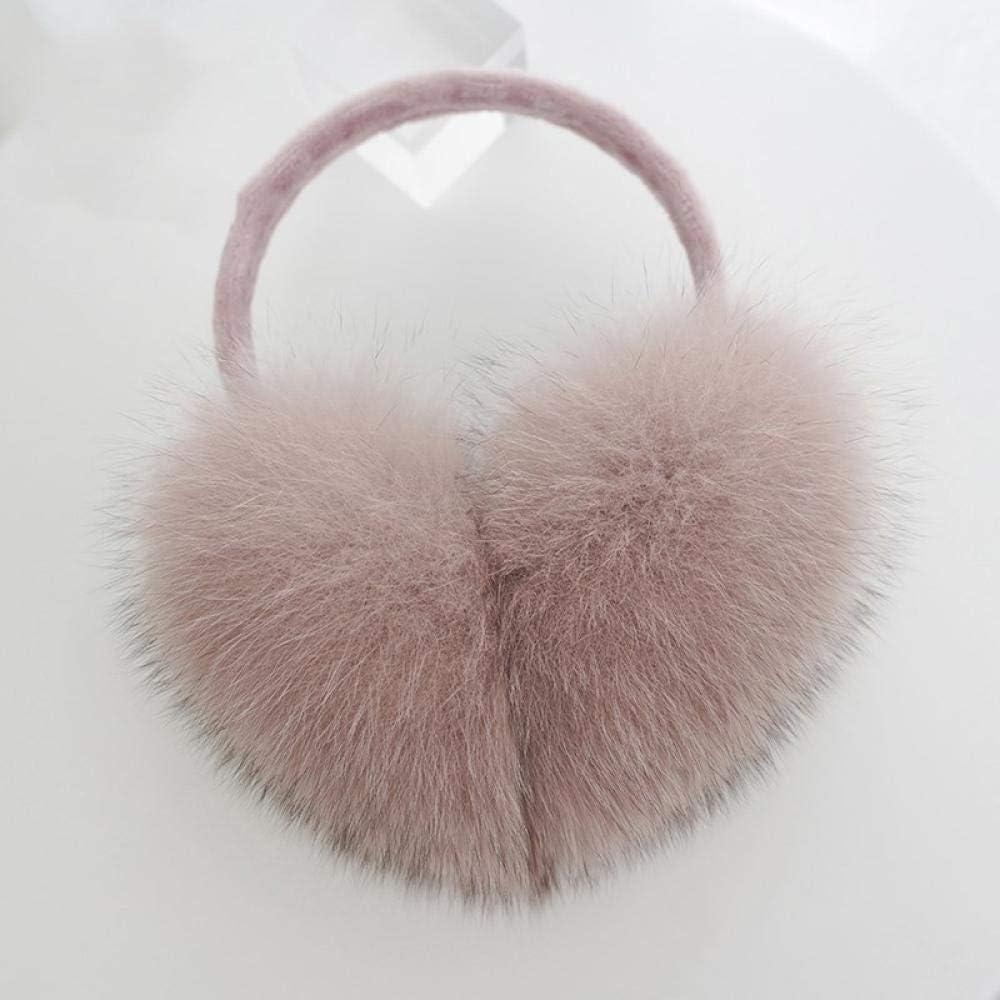 Real Rabbit Fur Ear Muffs Warm Winter Earmuffs Earwarmers Earband Xmas Gift