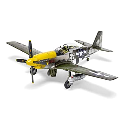 Airfix North American P51-D Mustang Filletless Tails 1:48 WWII Military Aviation Plastic Model Kit A05138: Toys & Games