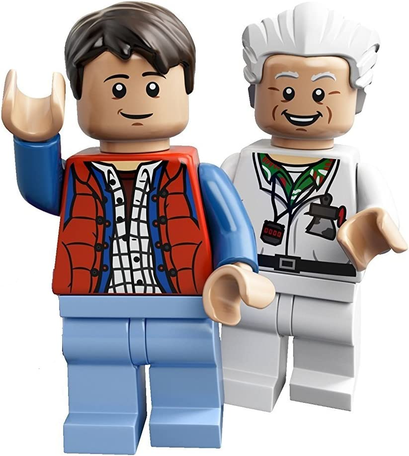 Lego Marty McFly Minifigure Figure /& Doc Brown  From Back To The Future 21103