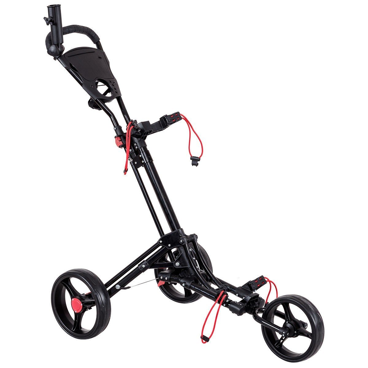Apontus Lightweight Foldable Golf Cart with Adjustable Push Handle by Apontus