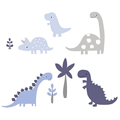 Bedtime Originals Roar Dinosaur Wall Appliques, Blue/Gray