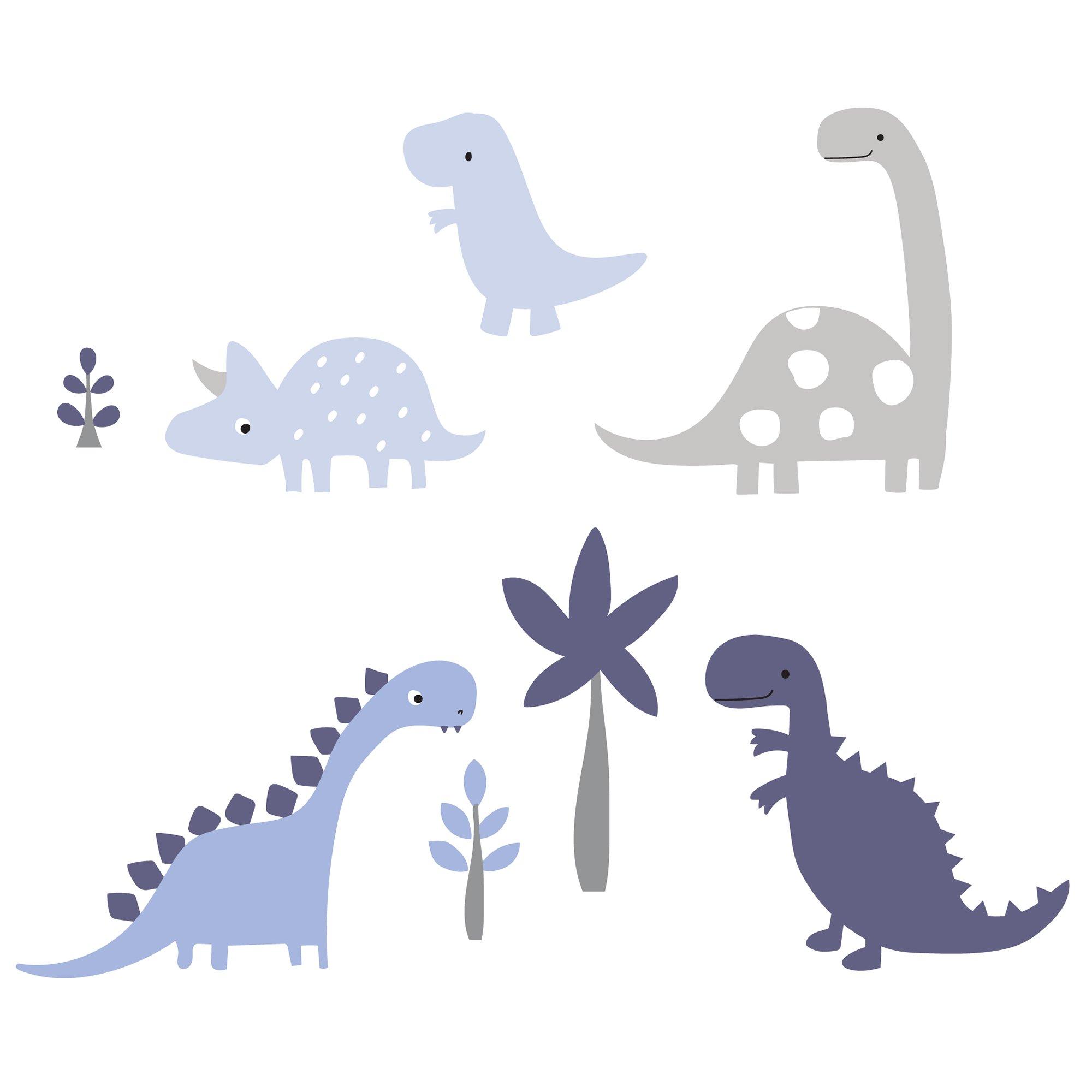 Bedtime Originals Roar Dinosaur Wall Appliques, Blue/Gray