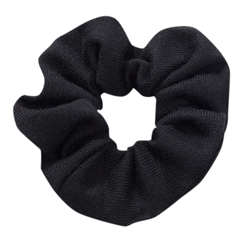 Fashion Women Wave Point Printing Ponytail Hair Ring Hair Rope Elastic Hair Band