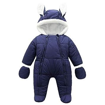 2baa36a5e519c famuka ジャンプスーツ キッズ 可愛い カバーオール ベビー服 足つき 手袋付き 新生児 長袖 ロンパース 男の子 女の子 子供