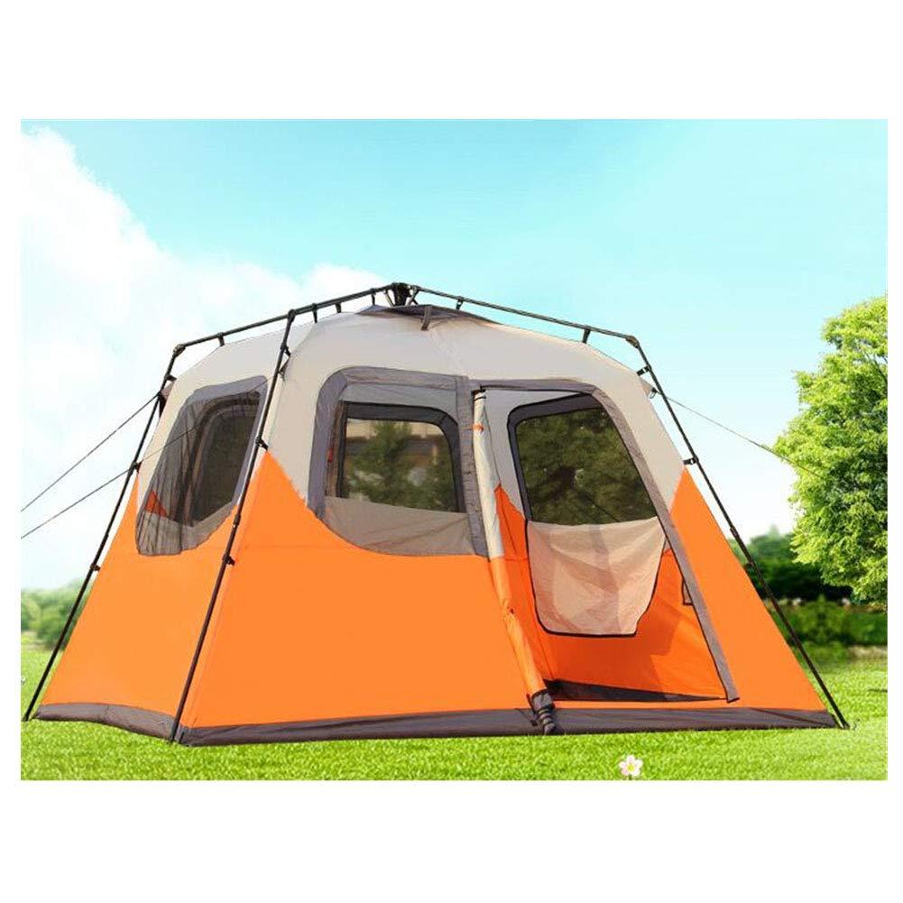 Zelt, 5-8 Personen Camping Zelte im Freien Vollautomatisch Hydraulic Doppel-Ebenen-Familie Get Together OverGrößed Zelt