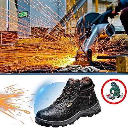 Chnhira Securité Femme Chaussure Bottes Travail Protection En Al Homme Noir Soudure Cuir De Électrique k8wn0OP