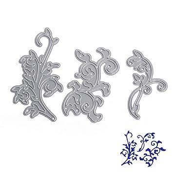 Bottone troqueles de corte de metal plantilla para molde para tarjeta de papel DIY álbum de recortes manualidades decoración (flores): Amazon.es: Juguetes y ...