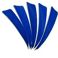 SHARROW 50pcs Plumas para Flechas 4 Pulgadas Alas Derechas Pluma Natural Fletching para Tiro con Arco