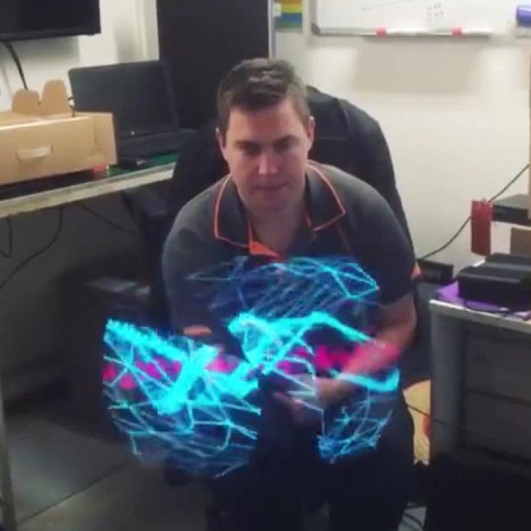 Inverlee New Trendy 3D LED Holographic Projection Fan Hologram Fantastic Advertising Display Cool Imaging 3D Naked Eye LED Fan (Black) by Inverlee (Image #2)