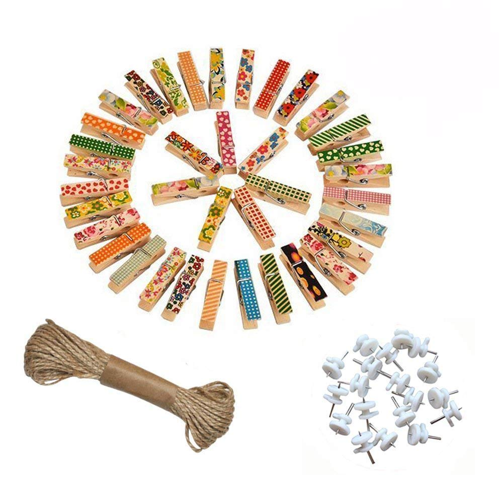 100x Natural Wooden Clothes Photo Mini Clothespin Paper Peg Home Craft Use