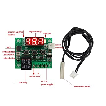 anycubic W1209 de DC 12 V Digital refrigeración/calefacción Temperatura Termómetro Termostato Regulador de temperatura