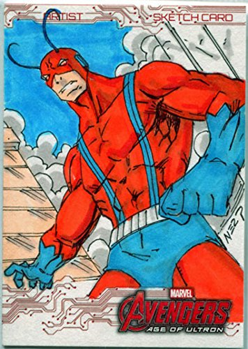 Marvel Avengers Age of Ultron Art Sketch Card by Gener Pedrina of Antman