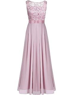 iiniim Damen Elegant Abendkleid Brautjungfer Cocktailkleid Chiffon  Faltenrock Langes Kleid Festlich Hochzeit Partykleid 8a2c5dbd38