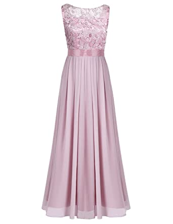 Iiniim Damen Elegant Abendkleid Brautjungfer Cocktailkleid Chiffon
