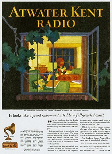 Atwater Kent Radio Ad 1926 Namerican Magazine Advertisement For The Atwater Kent Radio 1926 Poster Print by (24 x 36)