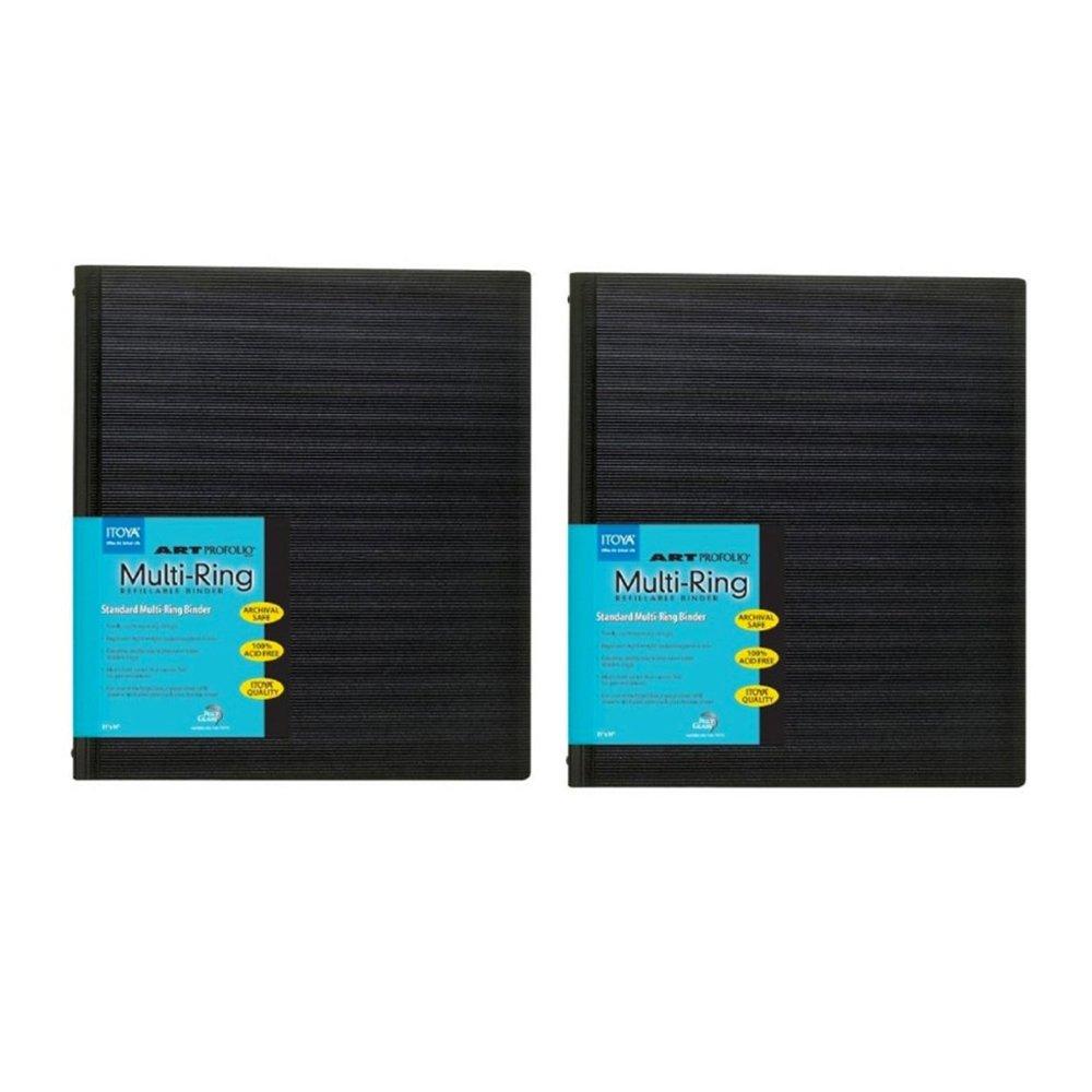 Itoya Art Profolio Multi-Ring Binder (8.5'' x 11'', Black) (2 Pack) by Itoya of America, Ltd