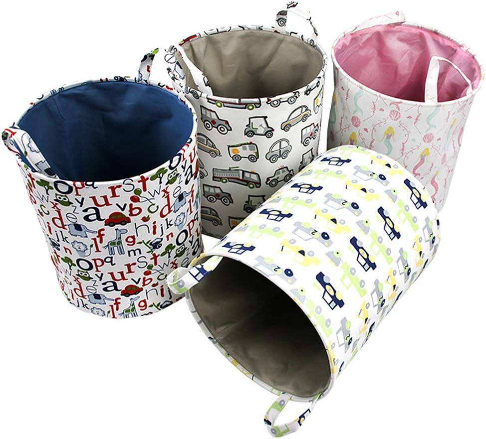 Fieans Nursery Laundry Storage Basket Large Collapsible Fabric Hamper Kids Toys Storage Bins Animals Alphabet
