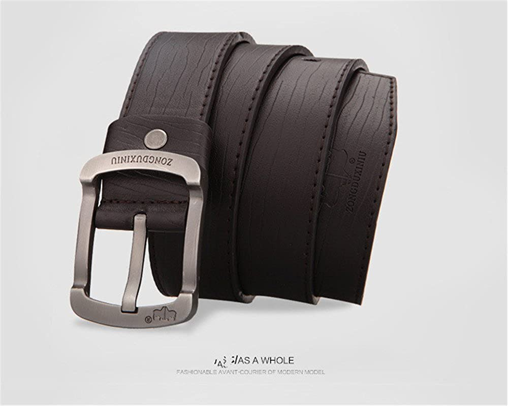 Mens Fashion Leather Belt Dress Belt with Automatic Buckle Best Gifts for Men