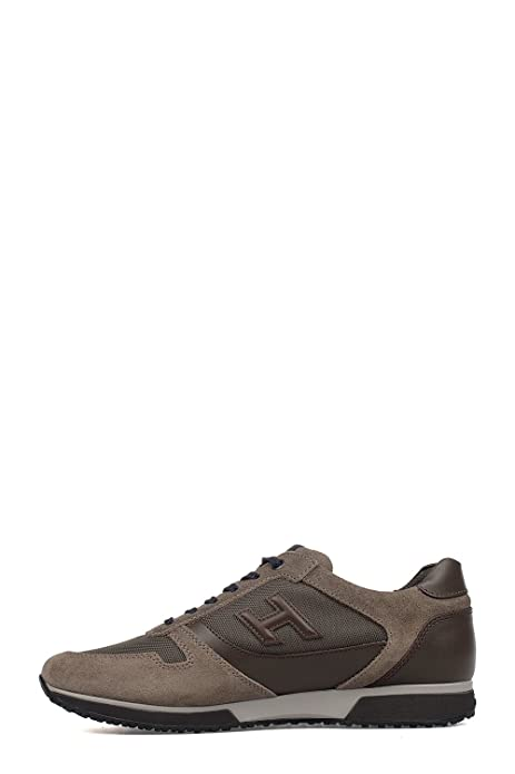 Hogan Sneakers Uomo Hxm1980t821e7m779e Pelle Marrone ayzte9V