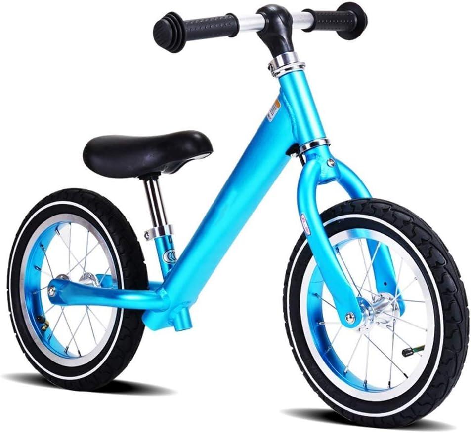 Bicicleta de Equilibrio Liviana, Carrera Bicicleta de Entrenamiento con Asiento Ajustable En Altura Coche Sin Pedal for Niños Pequeños Niños de 2 A 5 Años (Color ...