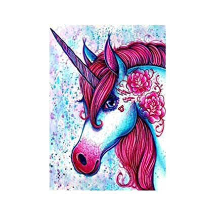 D Dolity Juego Pintura de Bordado Fuente Arte Caballo Animal de Cuadros Fuente Arte Craft Creatividad