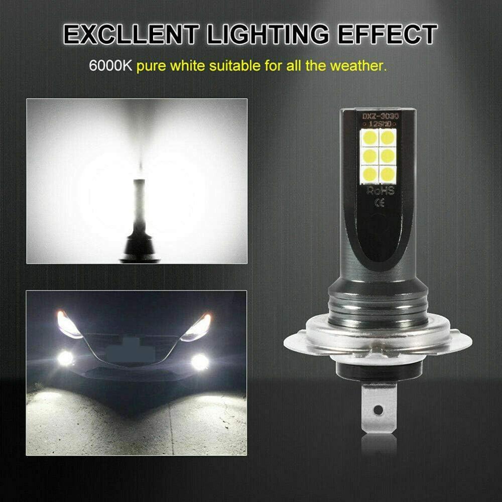 CCAUTOVIE Ampoules LED pour Feux de Brouillard de Voiture H1 Feux de Circulation diurnes DRL 60 W 6000 K Blanc