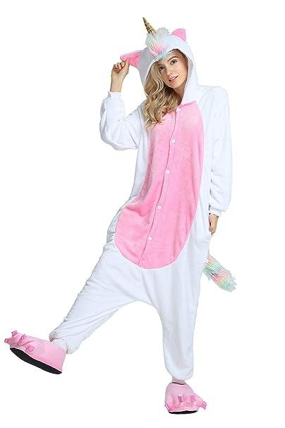 705047c95c34 Gli Adulti con Coulisse Unicorno One Piece Pigiama Felpe Abiti Anime Natale  Halloween Costumi Cosplay: Amazon.it: Abbigliamento