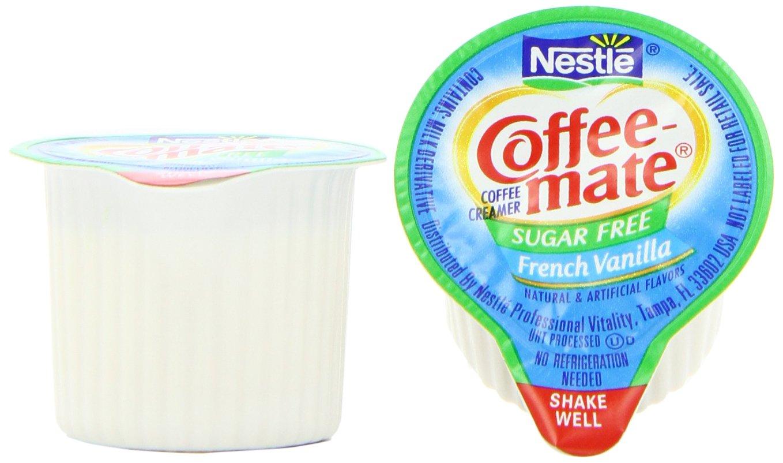 Nestle Coffee-mate Coffee Creamer, Sugar Free French Vanilla Liquid Singles, 0.375-Ounce Creamers (Pack of 180)