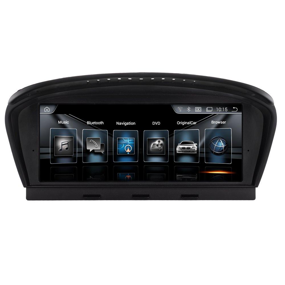 """Rupse Android 4.4 Autoradio GPS Système de Navigation Audio Stéréo 8.8"""" Ecran Tactile BT WiFi Mirror-link pour BMW 5 Série (2009-2010)/ BMW 3 Série (2009-2012) avec Système CIC O"""