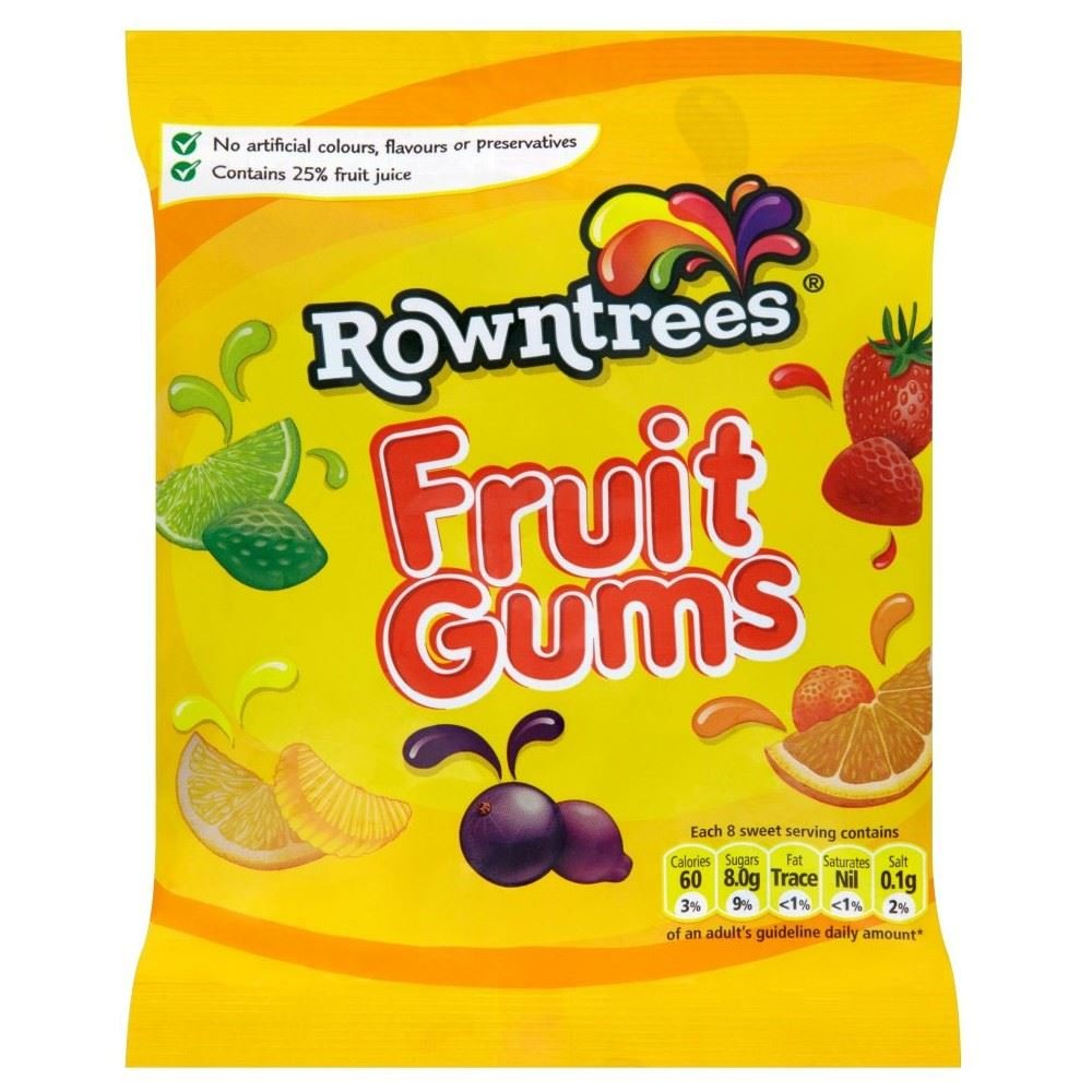 Rowntree's Fruit Gums (170g) - Pack of 6