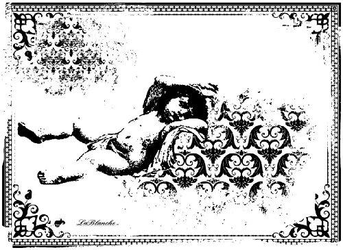 LaBlanche Silicone Stamp LB1047: Sleeping Cherub In Frame