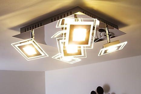 Plafoniera faretto Led quadrato design moderno- Faretti ...