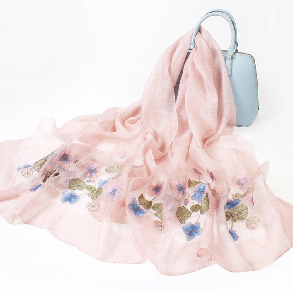 Bufanda HAIZHEN Elegante de moda seda femeninas bordadas chales Otoño y seda de invierno doble uso p...