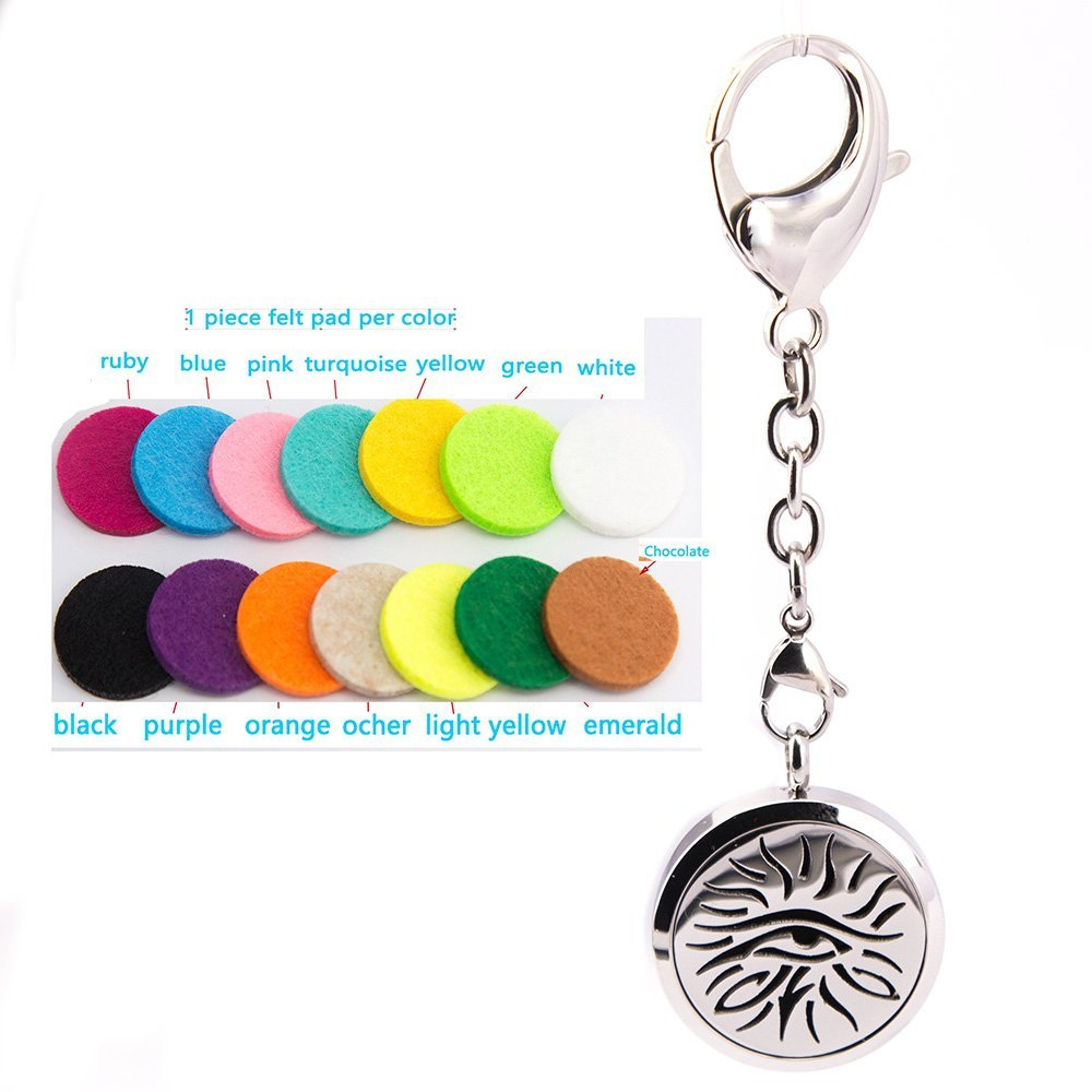 Mesinya eye of horus Aromatherapy bag clip and Essential Oils Diffuser pedant Locket Necklace