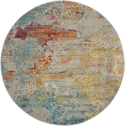 Nourison Celestial (CES02) Modern Watercolor Area Rug, 5'3