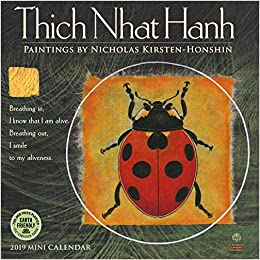 thich nhat hanh 2019 mini wall calendar