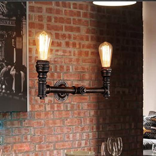 salon et chambre /à coucher Applique murale /à tubes deau 2 Pack lampe /à douille E26 SUN RUN Applique murale /à encastrer industrielle en m/étal avec style r/étro pour bar cuisine