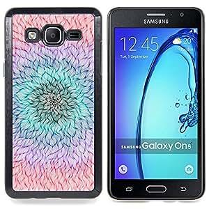 Stuss Case / Funda Carcasa protectora - Pétalo de la flor del trullo púrpura melocotón de Verano - Samsung Galaxy On5 O5