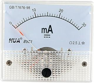 Sourcingmap, a12102300ux0746, DC 0-30MA analogico attuale pannello strumenti amperometro 85C1 30MA, Bianco